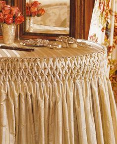 Idea :: Smocked Skirt For Dressing Table