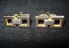 Vintage 1970s CuffLinks Swank Squares and Rope 2012405a - pinned by pin4etsy.com