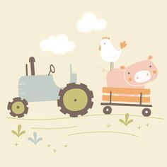 Farmyard Illustration by Maeve Parker // www.maeveparker.com
