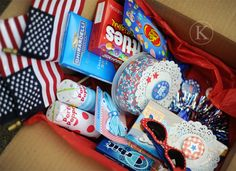 Katherine Marie – Happy Red, White and Blue Where Is The Love, Pen Pal Letters, Cheer Camp, Gift Wrapping, Pen Pals, Care Packages, Happy Mail, Blue Box, Letter Writing