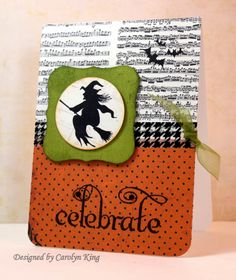Halloween card using Lots of Lines and Spooktacular You stamp set by Gina K Designs (www.ginakdesigns.com). Card designed by Carolyn King (www.myblogbycammie.blogspot.com)