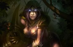 art dmitriy prozorov world of warcraft wow elf elf weapon ears ...