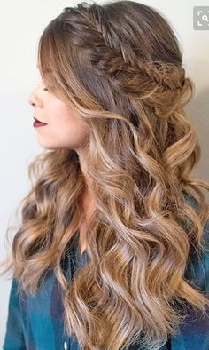 Long hair beautiful hairstyle