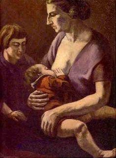 """Pintores Colombianos. PEDRO NEL GÓMEZ """"Maternidad """""""