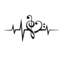 MUSIC HEART PULSE, Love, Music, Bass Clef, Treble Clef, Classic, Dance, Electro by boom-art