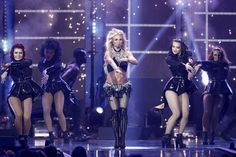 FILE - In this Sept. 24, 2016 file photo, Britney Spears performs at the 2016 iHeartRadio Music Festival - Day 2 held at T-Mobile Arena  in Las Vegas. Spears is donating some of her Las Vegas show ticket sales to Louisiana schools for flood recovery. The Kentwood, Louisiana native announced that $1 of every ticket sold through the end of the year will go to public schools in a partnership with the Louisiana School Boards Association.