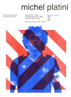 Beautiful Games: stylised football posters Michel Platini by Mark Frances Michel Platini, Sports Graphic Design, Graphic Design Typography, Sport Design, Banners, Football Design, Football Art, Sports Graphics, Poster S