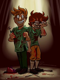 you're like the fuckin' angel of death by Nintendo-Nut1.deviantart.com on @deviantART  (Gav & Mike at Achievement Hunter)