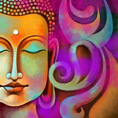 Buddha Painting Canvas inch X 16 inch) Buddha Artwork, Buddha Painting, Buddha Zen, Buddha Buddhism, Indian Art Paintings, Oil Paintings, Diy Canvas Art, Painting Canvas, Ganesha Pictures