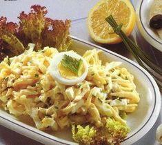 Een waanzinnig lekkere salade. Dutch Recipes, Egg Recipes, Salad Recipes, Cooking Recipes, Party Salads, Bbq Salads, No Cook Meals, Kids Meals, Buffet