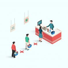 People Doing Distancing In Public Area To Prevent The Infection Of Virus And Desease In Isometric Design Hand Hygiene Posters, Safety Posters, Happy Birthday Illustration, Campaign Posters, Building Illustration, Perspective Art, Isometric Design, App Design Inspiration, The New Normal