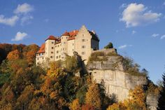 graphic:  Rabenstein castle on the top of the rocks Going here in August