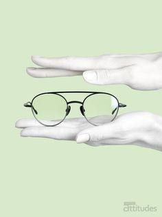 Magazine Lunettes Attitudes Printemps-Été 2018 - LIAISON IDÉALE : le double pont ! Offert chez votre opticien Maurice Frères #eyes #eyewear #fashion #tendances #glasses #lunettes #opticien #optician #optique #magazine #webzine #green