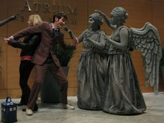 Weeping Angel Doctor Who Cosplay. This is the best I have found. He really looks like David Tennant too!