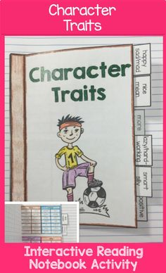 Character Traits Foldable, Character Traits Interactive Notebook Activity by Lovin' Lit from the ALL NEW Interactive Reading Literature Notebooks, Part 2