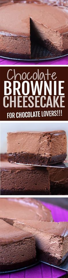 Chocolate brownie cheesecake  for chocolate lovers!