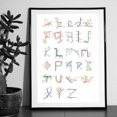 Latin and cyrillic alphabets designed using subway's maps of Paris London and Moscow.It's now possible to buy it ! You can contact me by e-mail for more informations : pauline.detavernier@gmail.com
