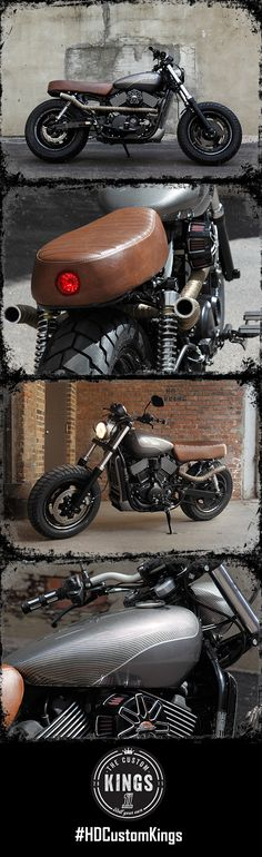 J& L Harley-Davidson's spirit of adventure is alive with their #HDStreet build. Features rugged styling with the grunt of the Revolution X motor. #RollYourOwn | Harley-Davidson #HDCustomKings