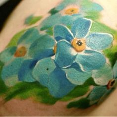 Beautiful tattoo! Water color look!!!! Love!!!