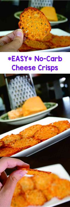 LOW-CARB SNACKS : HOMEMADE BAKED CHEESE CRISPS RECIPE - cheese, healthy, low carb, recipes, snack, vegetable