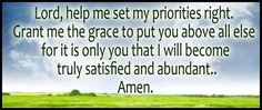 Lord, help me to...