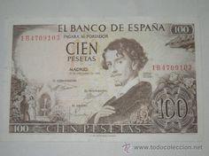 billete banco de españa 100 pesetas 1965 sin circulacion