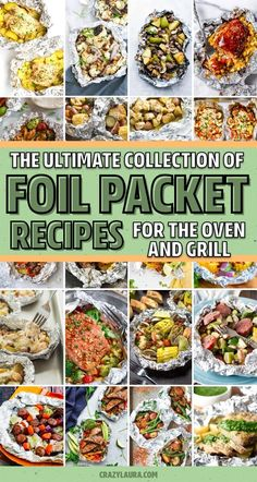 If you need a quick and easy meal for the family or next time you're camping. these awesome foil packet recipes for both the grill and oven will help you whip up dinner in no time! Grilled Foil Packets, Chicken Foil Packets, Foil Packet Dinners, Oven Foil Packets, Camping Menu, Camping Dishes, Camping Foods, Backpacking Food, Camping Recipes