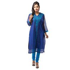 Damyantii Chanderi Blue Kurti For Women 42 Damyantii http://www.amazon.in/dp/B00TU0PSFS/ref=cm_sw_r_pi_dp_vPY-ub09GVMMZ