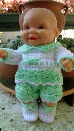 Brassière, culotte, chaussons pour mini-bébé Paola Reina...