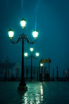 Rainy Night, Venice, Italy
