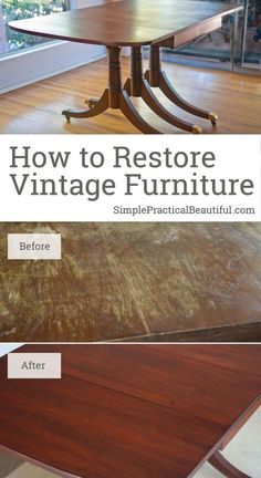furniture restoration How to restore furniture, like this vintage mid-century table, to its original beauty Restore Wood Furniture, Furniture Repair, Refurbished Furniture, Repurposed Furniture, Furniture Projects, Rustic Furniture, Furniture Makeover, Vintage Furniture, Cool Furniture