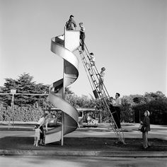 Street Gallery of photos taken by the photographer Vivian Maier. One of multiple galleries on the official Vivian Maier website. Vivian Maier Street Photographer, Vivian Mayer, Playground Slide, Children Playground, Chicago, Street Photographers, Famous Photographers, Belle Photo, Black And White Photography
