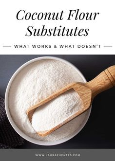 Everything you need to know about coconut flour substitutes! Find the conversions, what you can substitute, healthy recipes, and more! Recipes Using Coconut Flour, Baking With Coconut Flour, Baking Flour, Flour Recipes, Almond Flour, Pumpkin Spice Coffee, Spiced Coffee, Gluten Free Sweets, Gluten Free Baking