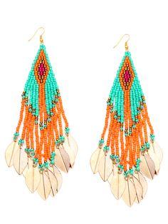 Shop Colorful Beaded Leaf Metal Sheet Fringe Earrings online. SheIn offers Colorful Beaded Leaf Metal Sheet Fringe Earrings & more to fit your fashionable needs.