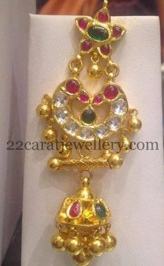 Gold Beads Set with Pathakam | Jewellery Designs