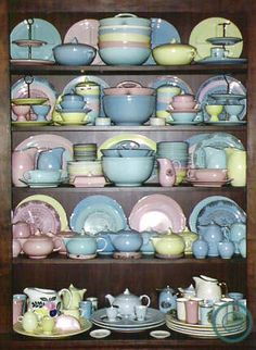 I have already started collecting the blue. Maybe I should expand and add green. Google Image Result for http://www.ohioriverpottery.com/tst/tstline10-p16a.JPG