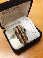 t h e A e s t h e t i k ~ contemporary women's designer clothing RINGS :: DECO RUBY RUNWAY STERLING SILVER RING