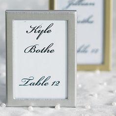 Mit silbernen Rahmen Hochzeitsfotos stilvoll präsentieren