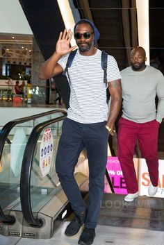 Idris Elba wearing Adidas Ultra Boost Uncaged Sneakers
