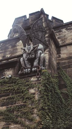 Gargoyle at the Eastern State Penitentiary Historic Site, Philadelphia PA - Javi Kuouk Gothic Buildings, Gothic Architecture, Garden Statues For Sale, Die Renaissance, Gothic Gargoyles, Eastern State Penitentiary, Graphisches Design, Deco Originale, Gothic Art
