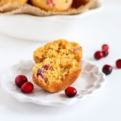 These healthy whole wheat cranberry orange cornmeal muffins are great for snacking! At only 127 calories apiece, they are practically guilt-free.