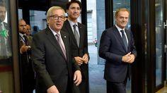 """Ceta: EU und Kanada schließen Handelspakt Ceta ab Das Freihandelsabkommen Ceta ist nach einem tagelangen Drama unterzeichnet. """"Ende gut, alles gut"""", sagt EU-Kommissionspräsident Juncker. Doch nun s…"""