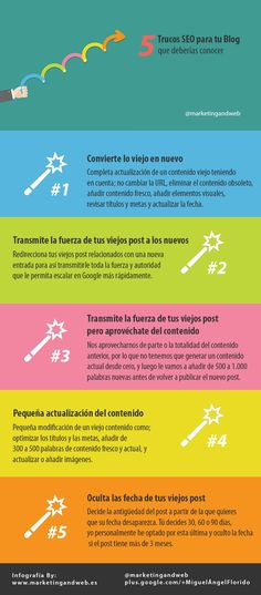 Hola: Una infografía con 5 trucos SEO para tu Blog. Un saludo