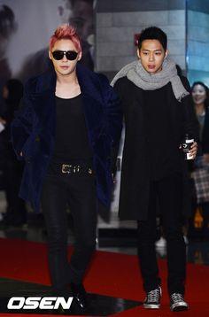 JYJ's Yoochun and Junsu attend the VIP screening of 'Code Name Jackal'
