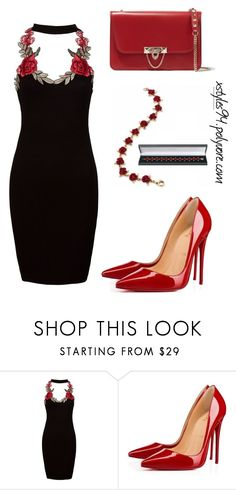 """5"" by xstyles94 ❤ liked on Polyvore featuring Sans Souci, Christian Louboutin and Valentino"