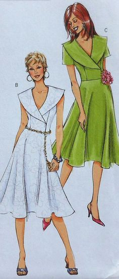 Flared Dress Sewing Pattern