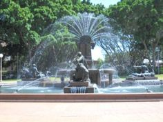 Hyde Park, the Archibald Fountain was built in The fountain was built to commemorate the association of Australia and France in World War I. Hyde Park Sydney, Parks In Sydney, Sydney City, World War I, Fountain, Australia, France, Spaces, Building