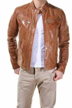 Redskins - Blouson en cuir Ayrton Mojito E13 Cognac - Couleur Beige - Taille XXL: Amazon.fr: Vêtements et accessoires