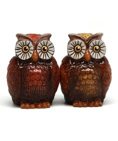 Another great find on #zulily! Owls Salt & Pepper Shakers by Pacific Trading #zulilyfinds