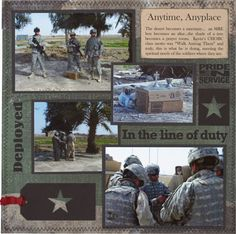 Scrapbooking Ideas for military   Military Scrapbook Layouts in Honor of Veterans Day   Creating ...